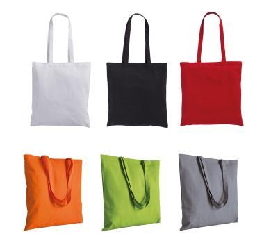 Цветни памучни чанти с дълги дръжки