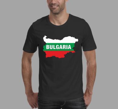 Тениска с щампа Карта на България