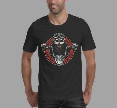 Тениска с щампа Black eagle, custom culture