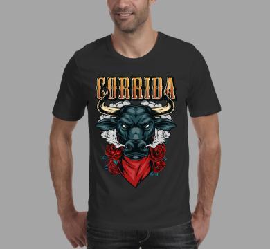 Тениска с щампа Corrida