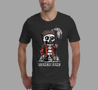 Тениска с щампа Fisher skull