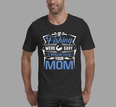 Тениска с щампа Fishing