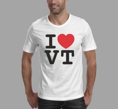 Тениска с щампа I love VT