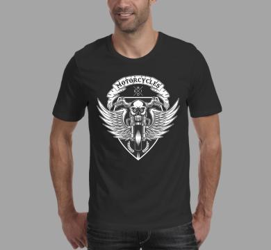 Тениска с щампа Motocycle