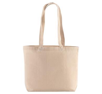 Чанта от натурален памук с дълги дръжки